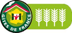 Gîtes de France labellisés 4 épis